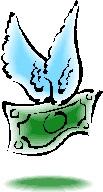 羽が生えたお金
