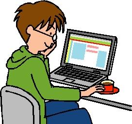 パソコンをする人