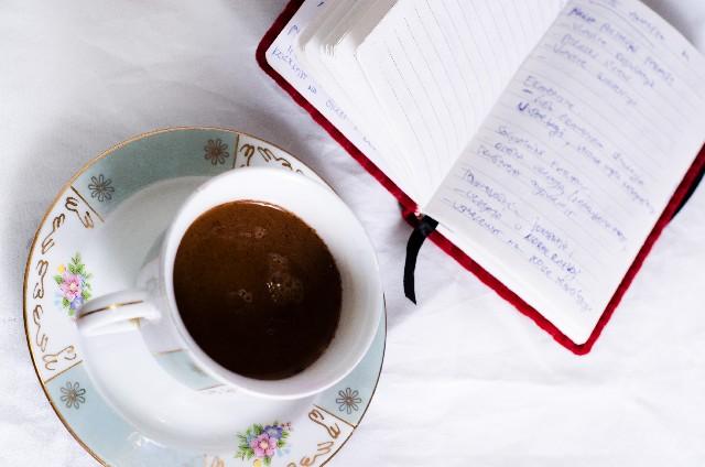 コーヒーと手帳