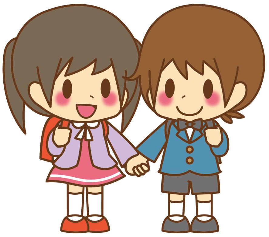 男女_小学校入学